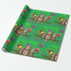 Happy Birthday from Owl of us! Wrapping Paper
