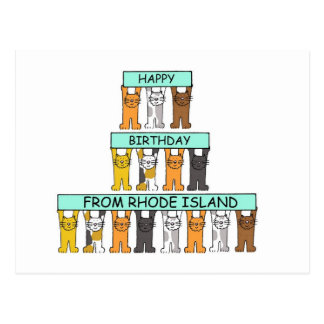 Happy Birthday from Rhode Island. Postcard