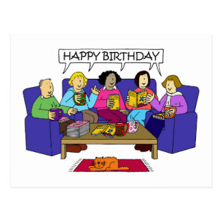 Happy Birthday from the Book Group. Postcard