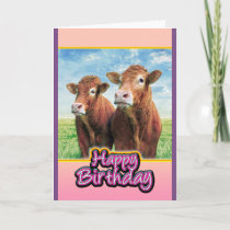 Happy Birthday from the cow boys Card