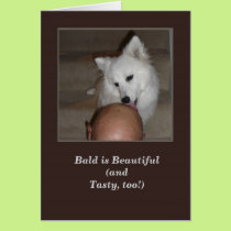 Happy Birthday From the Dog Greeting Card Bald Man