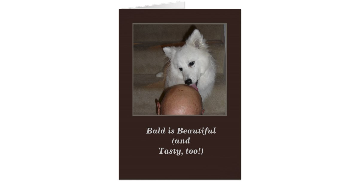 Happy Birthday From the Dog Greeting Card Bald Man – Birthday Card from Dog