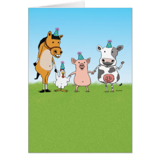 Happy Birthday From the Farm Team Card