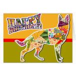 Happy Birthday from the German Shepherd Dog Card