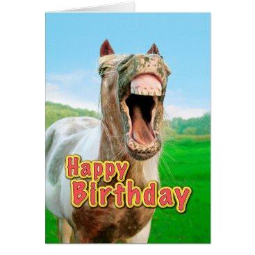 Beach Themed Happy Birthday from the happy horse Card