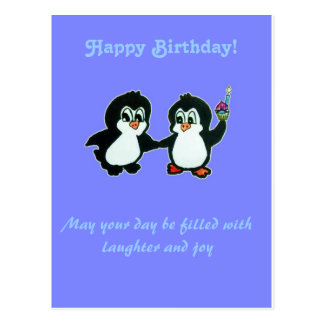 Happy Birthday from the Penguins Postcard
