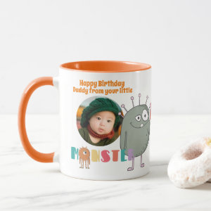 Happy Birthday From Your Little Monster PHOTO Gift Mug