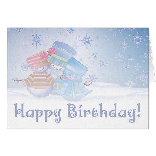 Happy Birthday Frosty Card