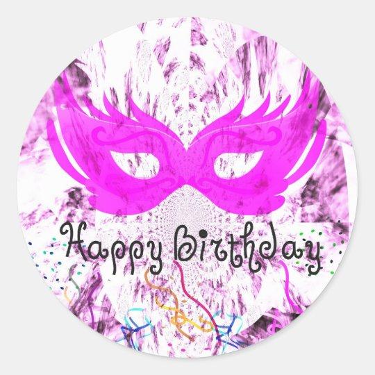 Happy Birthday Fun Classic Round Sticker