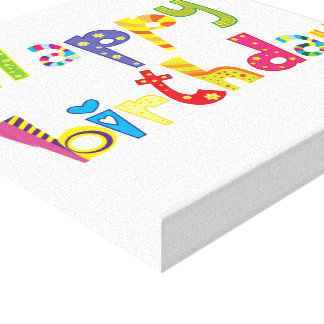 Happy Birthday Fun Letters Canvas Print