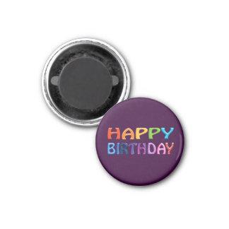 Happy Birthday fun purple Magnet Magnet