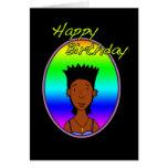 happy Birthday funky black girl Cards