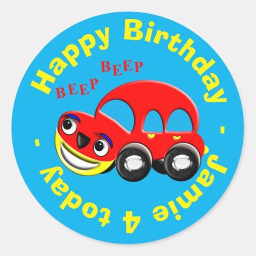 Happy Birthday Funny Cartoon Car Personalized Classic