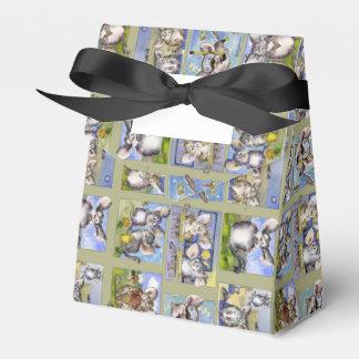 Happy Birthday Funny Cartoon Chinchillas Paper Box