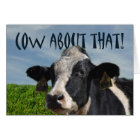 Happy Birthday Funny Dairy Cow and Pasture Card