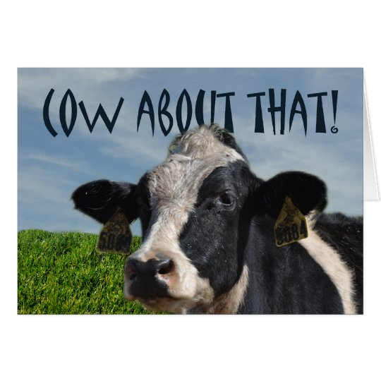 Happy Birthday Funny Dairy Cow And Pasture Card Zazzle