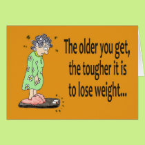 Happy Birthday Funny Humor Lose Weight Card