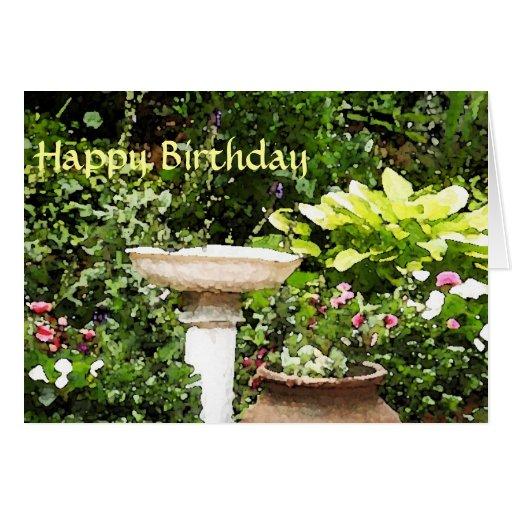 Happy Birthday Garden Card Zazzle