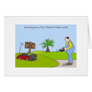 Happy Birthday Gardening Cards, funny gardener Greeting Card