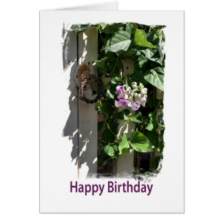 Happy Birthday - Gate with flower Card