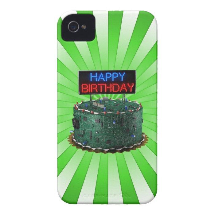 Happy Birthday, Geek Case-Mate iPhone 4 Case