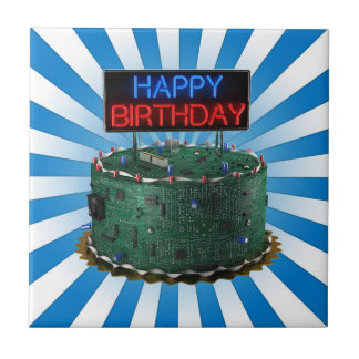 Happy Birthday, Geek Ceramic Tile