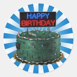 Happy Birthday, Geek Classic Round Sticker