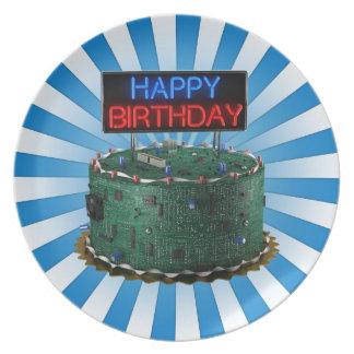 Happy Birthday, Geek Dinner Plate