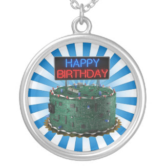 Happy Birthday, Geek Personalized Necklace