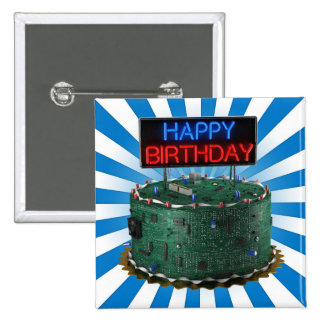 Happy Birthday, Geek Pinback Button