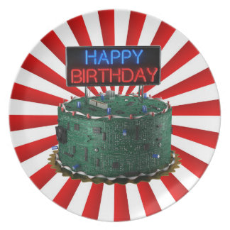 Happy Birthday, Geek Plate