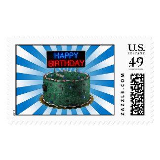 Happy Birthday Geek Stamps