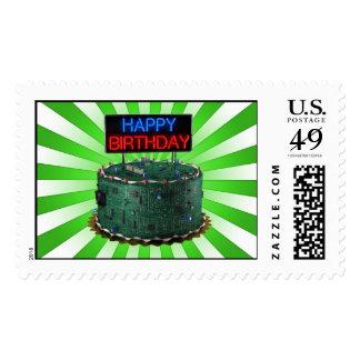 Happy Birthday Geek Stamp