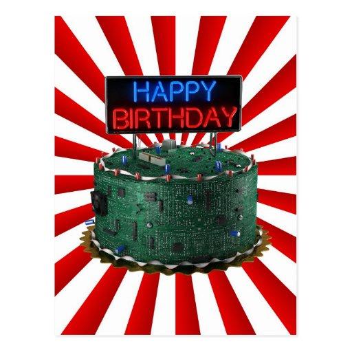 Happy Birthday, Geek Postcard