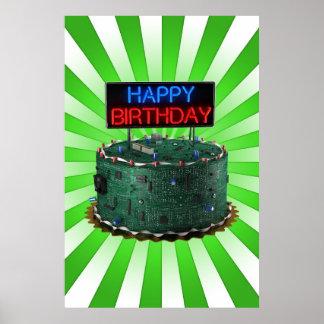 Happy Birthday, Geek Poster