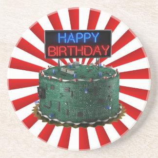 Happy Birthday, Geek Sandstone Coaster