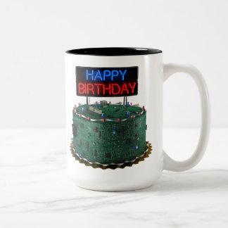Happy Birthday, Geek Two-Tone Coffee Mug