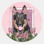 Happy Birthday - German Shepherd - Kuno Stickers