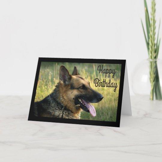happy birthday german shepherd puppy dog card  zazzle