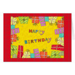Happy Birthday Gift Boxes - birthday greeting card