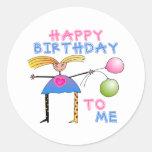 Happy Birthday Gift Classic Round Sticker