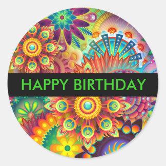 Happy Birthday Gift Sticker