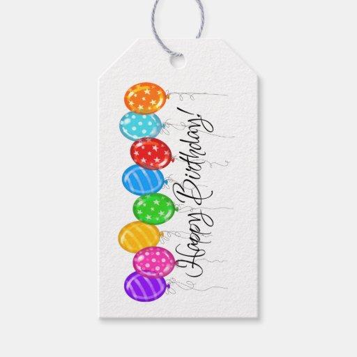 Happy Birthday Gift Tag -...