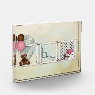 Happy Birthday (girl) acrylic photo block