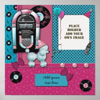 Happy Birthday Girl Digital Scrapbook Frame Print