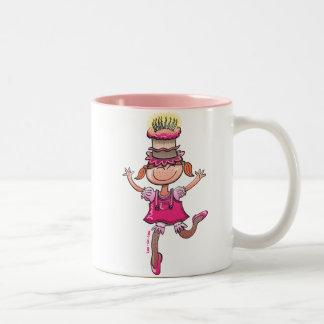 Happy Birthday Girl Two-Tone Coffee Mug
