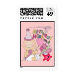 Happy Birthday Girl wishes 1 Year Old Postage Stamp