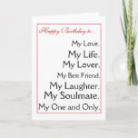 "Happy Birthday girlfriend.boyfriend,wife,husband Card<br><div class=""desc"">from my word art collection of birthday cards.  very popular,  thank you</div>"
