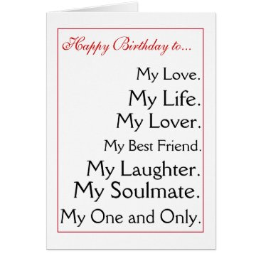Linsartwork Happy Birthday girlfriend.boyfriend,wife,husband Card