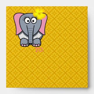 Happy Birthday Girly Elephant Envelopes